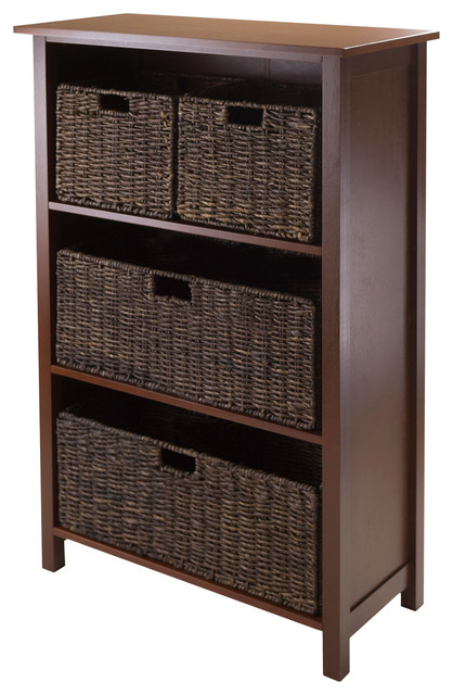 Granville 5-Piece Storage Shelf With 4 Foldable Baskets.
