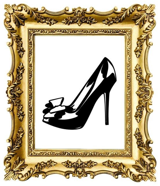 Wall Decor 20x20 : High heel picture art quot wall decals by design