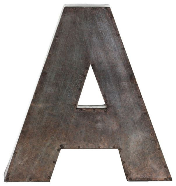"Metal Letters Wall Decor metal alphabet wall decor letter ""a"" - wall letters -urban"