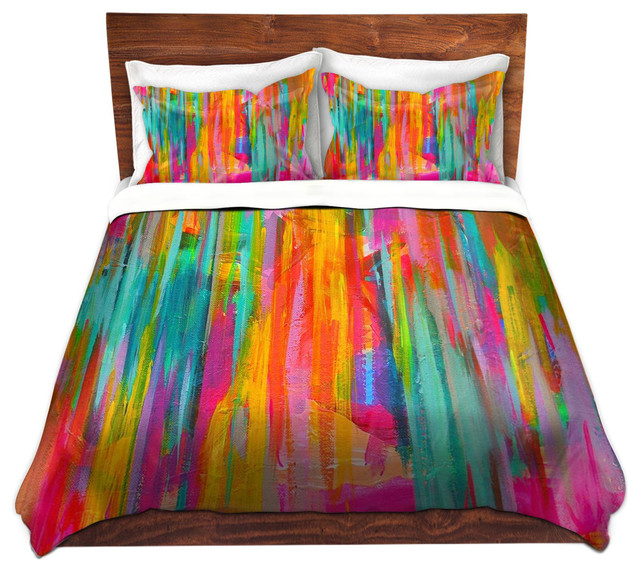 Dianoche Duvet Covers Twill Neon Double Abstract Contemporary And
