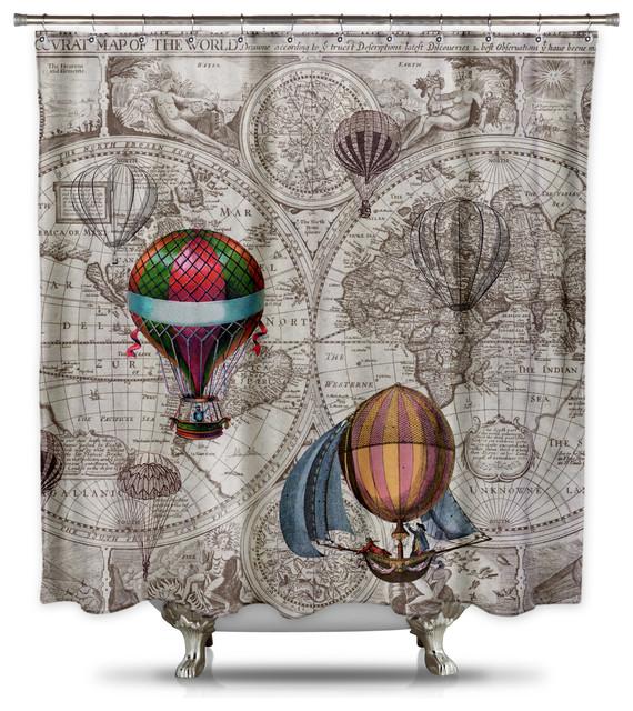Hot Air Balloon Steampunk Shower