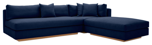 Modern Pch Comfortable Reversible Sectional Sofa Usa Made Blue