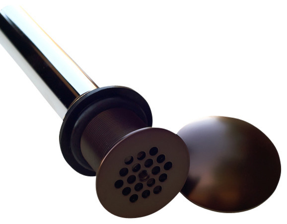 1 5 Strainer With Dome Copper Sink Drain Rustic Bathroom Sink And