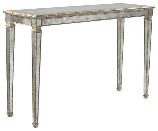Lillian August Cole Mirrored Console Table Console Tables
