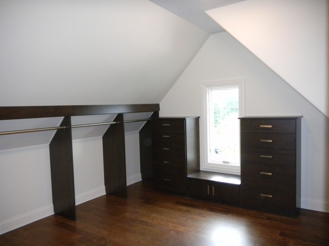 Walk In Closet W Slanted Ceiling Contemporary