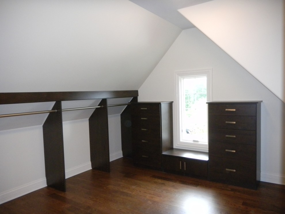 Walk In Closet W Slanted Ceiling Contemporary Chicago By Closet Organizing Systems