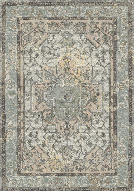 Horizon 988465 5280 Area Rug Blue Gray And Multi Mediterranean Area Rugs By Dynamic Rugs Inc