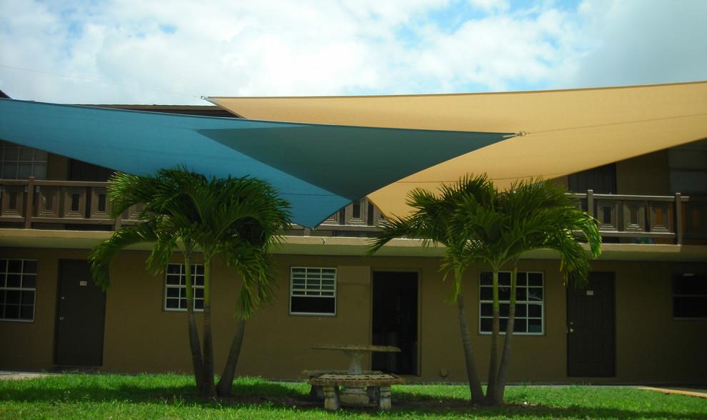 Large trendy home design photo in Miami