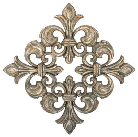 Fleur De Lis Wall Decor square fleur de lis grille - transitional - home decor -