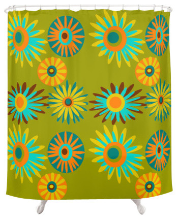 Funky Shower Curtain, Barrett - Contemporary - Shower Curtains - by ...
