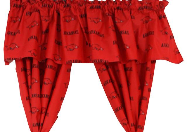 Arkansas Razorbacks Printed Curtain Valance, 84x15.
