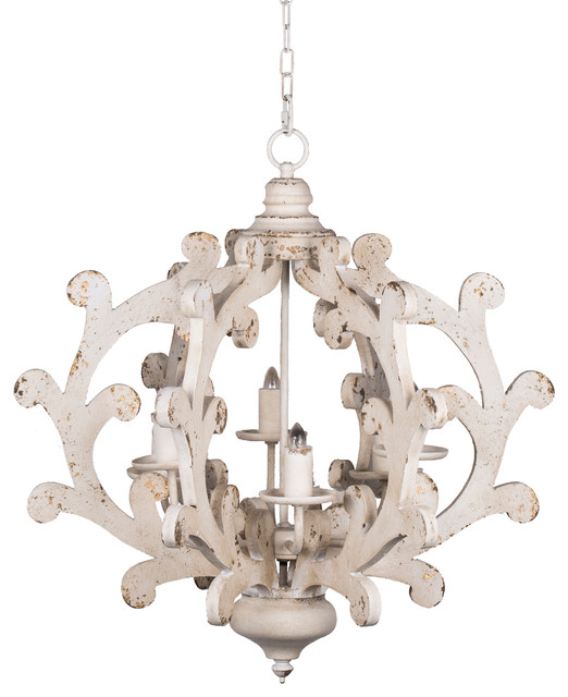 Country Carved 6-Light Chandelier