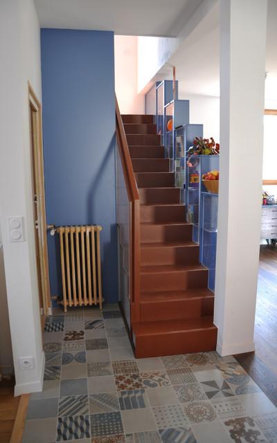Renovation Maison Année 30 renovation maison années '30 - contemporary - dijon -daria