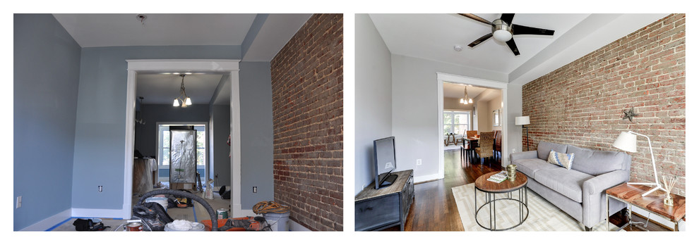 Before and After: Living Room
