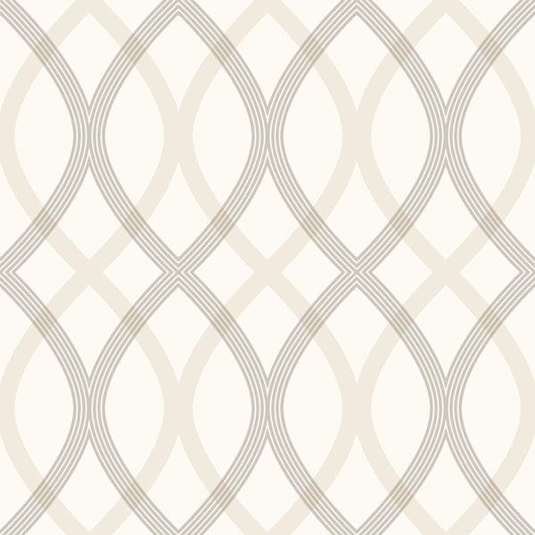contour grey geometric lattice wallpaper - contemporary