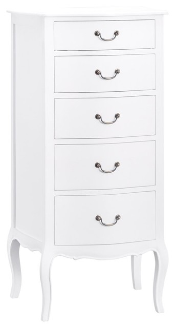 7276cad31779 Tuscany Antique White 5-Drawer Tallboy - Country - Chests of Drawers - by  The Furniture Outlet