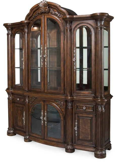 AICO Monte Carlo China Cabinet in Cafe Noir - Victorian - China ...
