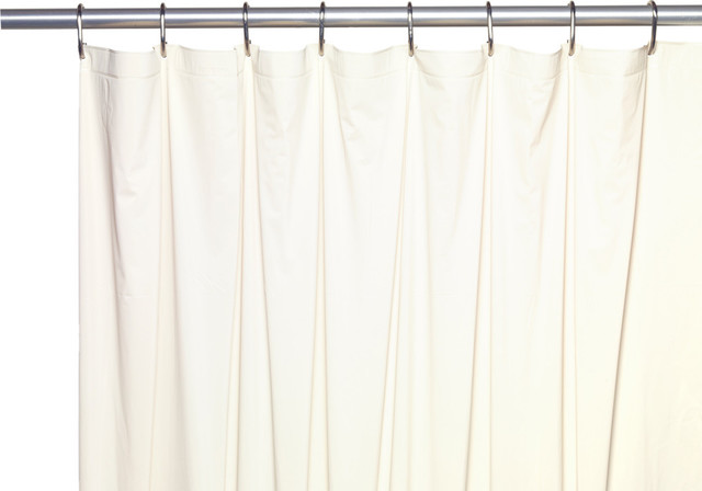 Extra Long 5 Gauge Vinyl Shower Curtain Liner With Metal Grommets Bone 72 X78