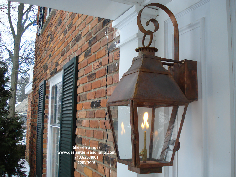 Sheryl's French Style Gas Lantern with Solid Top
