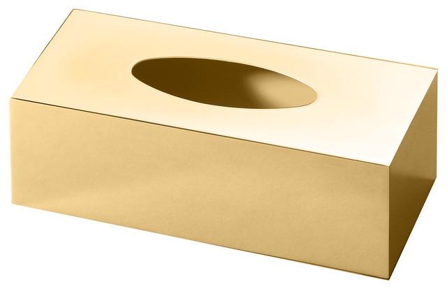 Dwba Rectangular Br Bath Tissue Box Holder Cover Tray Dispenser Case