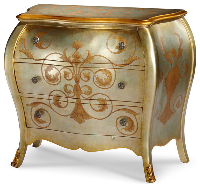 AICO Michael Amini Discoveries Storage Chest, Silver Short - Traditional - Accent Chests And ...