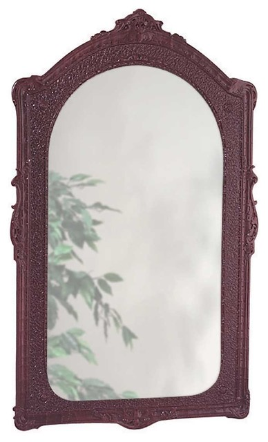 Vintage Vanity Mirror Bathroom Wall Mount Cherry Urethane