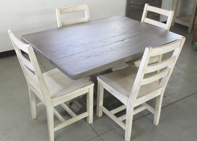Old Oak Dining Table Driftwood Finish With Reclaimed Oak Chairs Farmhouse Dining Tables