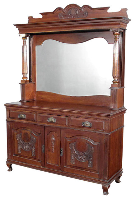 Antique Victorian Walnut Buffet Sideboard Server - Buffets And Sideboards - by MBW Furniture