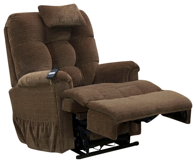 Med Lift Full Sleeper Lift Chair Stampede Chocolate