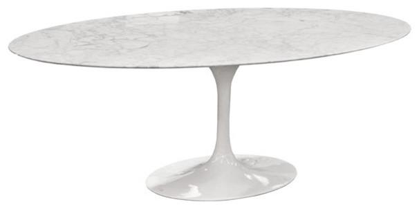 Eero Saarinen Oval Tulip Table Cararra Marble By Rove