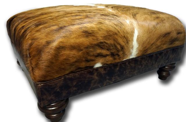 Outstanding Cowhide Small Roll Top Ottoman Inzonedesignstudio Interior Chair Design Inzonedesignstudiocom
