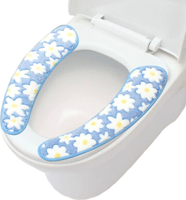 cushioned toilet seat covers. Bathroom Toilet Seat Cover Warmer Soft Cushion Accessories  B contemporary toilet