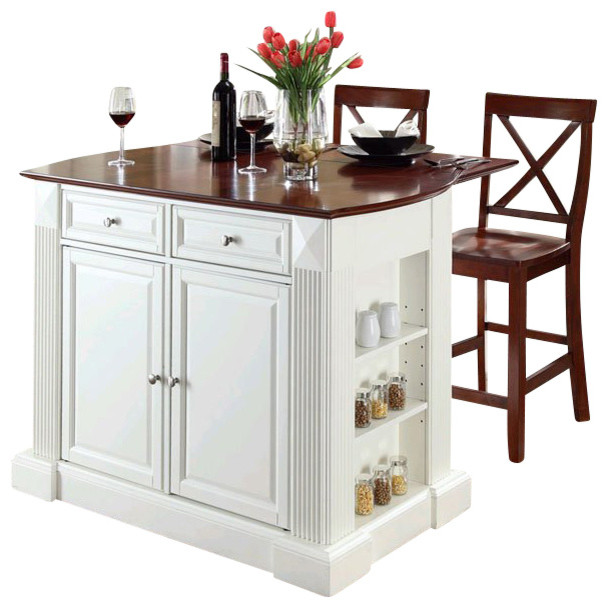 crosley coventry drop leaf breakfast bar kitchen island with stools kitchen islands and. Black Bedroom Furniture Sets. Home Design Ideas