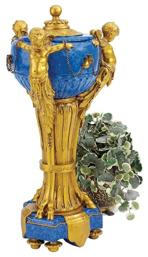 21 18th Century French Antique Replica Carlisle Cherubs Centerpiece Urn Traditional Decorative Jars And Urns By Xoticbrands Home Decor