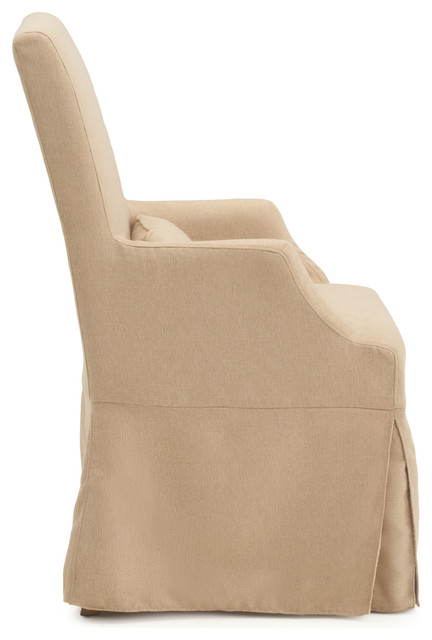 Astrid Slipcover Dining Arm Chair Beige By Rst Brands