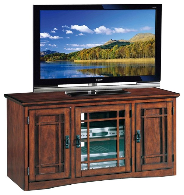 Leick Furniture Mission 50 Tv Stand With Storage In Oak
