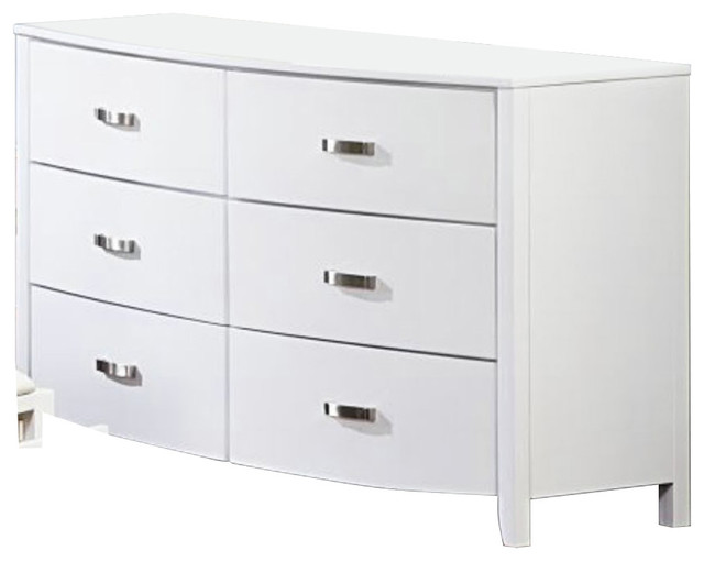 Homelegance Lyric 6-Drawer Dresser In White.