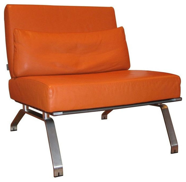 Ligne Roset Chair In Orange Leather   $2,500 Est. Retail   $1,300 On  Chairish.