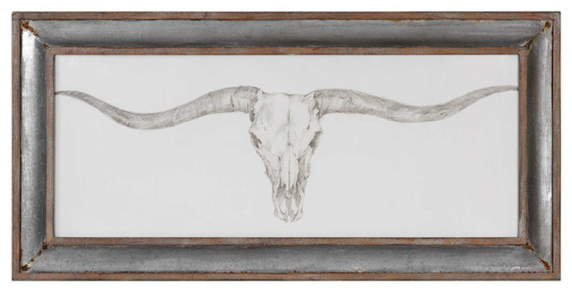 Uttermost Western Skull Mount Print.