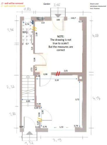 modernisierung von kleinem reihenhaus ideen f r grundriss im eg. Black Bedroom Furniture Sets. Home Design Ideas