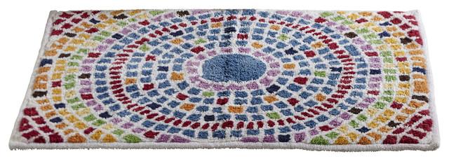 Picasso Mosaic Bath Rug, Multi