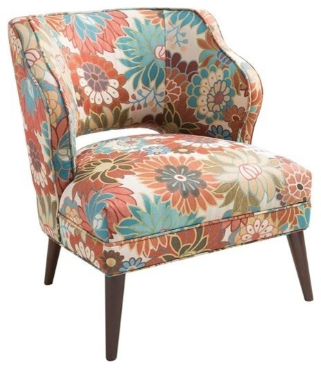 Open Back Accent Chair Midcentury Armchairs And Accent