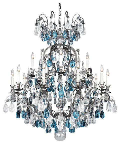 Schonbek Renaissance Rock Crystal Chandelier: Schonbek Lighting 3573-47AD Renaissance Rock Crystal