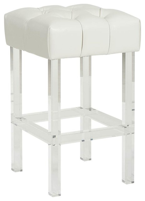 Superb 26Upholstered Counter Stool Ivory Pdpeps Interior Chair Design Pdpepsorg