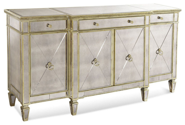 mirrored buffet sideboard borghese mirrored buffet contemporary buffets and 4157