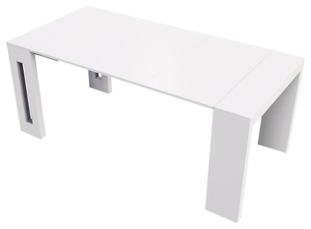 Erika White Wood Grain Extendable Console/dining Table By Talenti Casa.