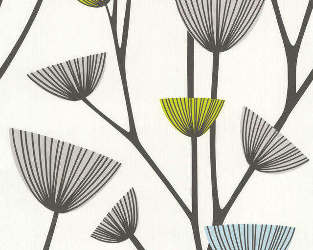 Floral Wallpaper For Accent Wall - 269218 Schoner Wohnen Wallpaper, 3 Rolls.