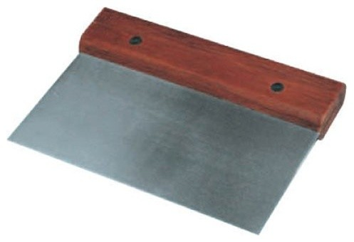 Stainless Steel Pastry Scraper Cutter Riveted Wooden Handle.