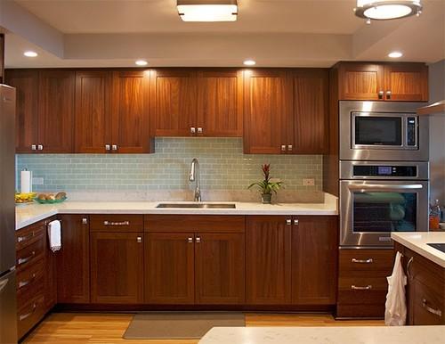 horizon cabinet doors vs barker for sapele slab