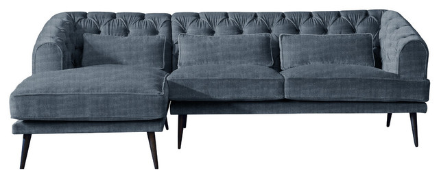 Earl Grey Chaise Sofa, Windsor, 3 Seater, Left Hand Facing